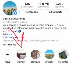 Stories do Instagram mostrando a Mesquita Azul