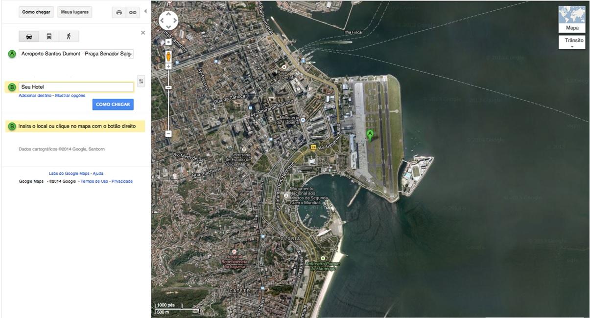 Vista aérea Santos Dumont Rio de Janeiro