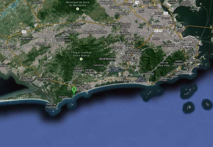 mapa prainha rop de janeiro