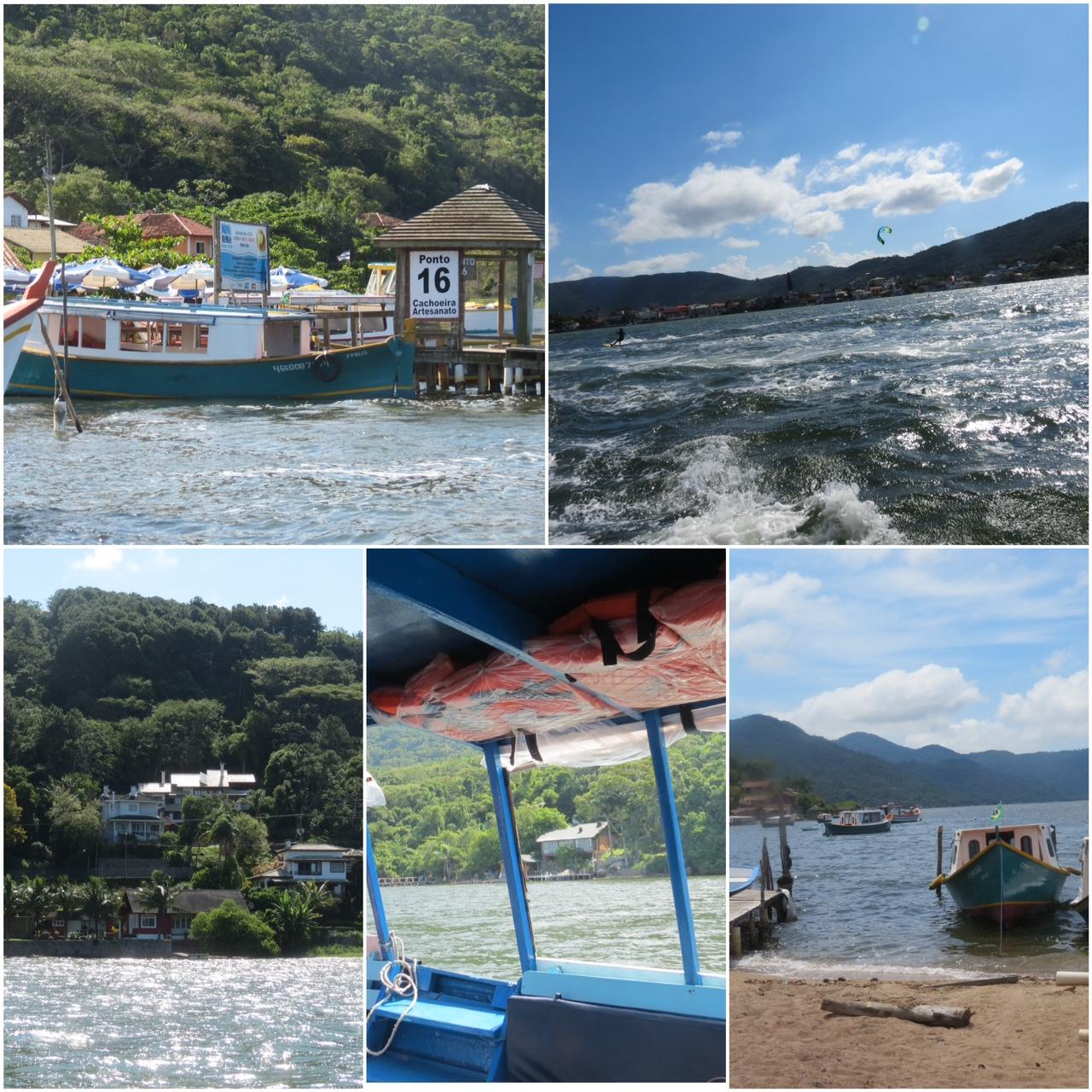 Barco pela Lagoa da Conceição