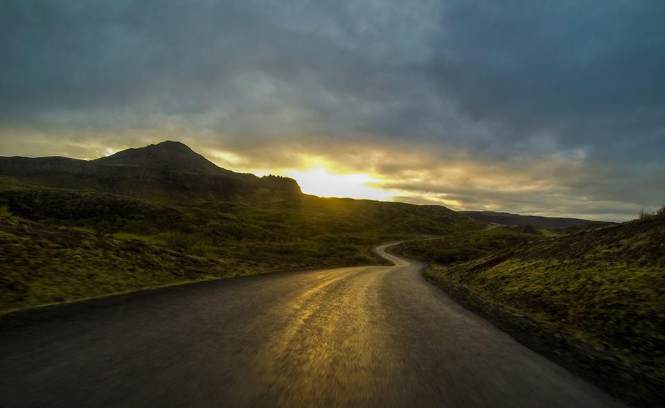 por do sol islândia
