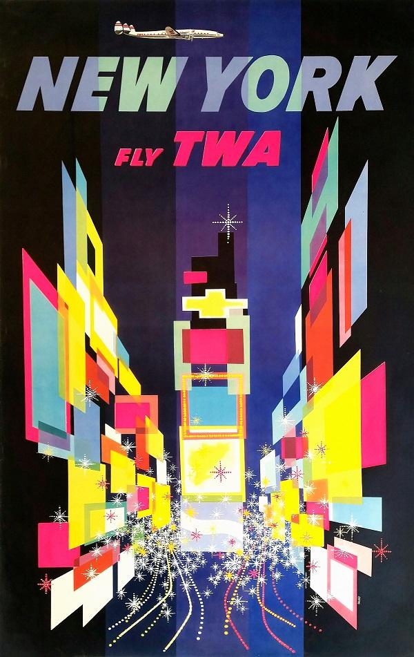 poster vintage de nova york para imprimir