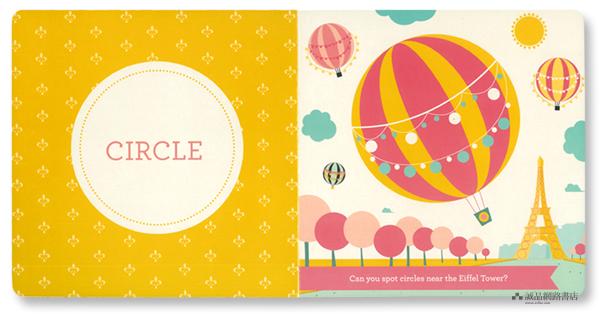 livro Hello Word Paris  formas para crianças pequenas